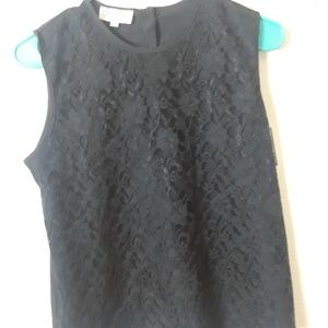 Sam Andre top black with lace in front